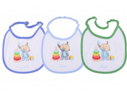 Bavlěné kojenecké bryndáky, 3 Ks, na gumičky, Ferris