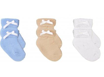 Froté kojenecké ponožky, 3ks v balení, Miles, Set 1