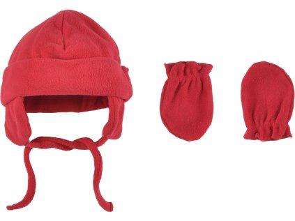 Kojenecká fleecová zimní čepice a rukavičky, Kirby 2