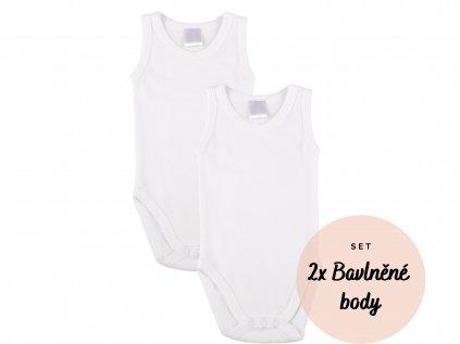 Bavlněné kojenecké body bez rukávu1