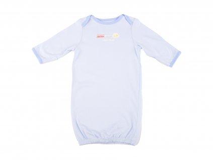 Bavlněná kojenecká košile, vláček, modrá