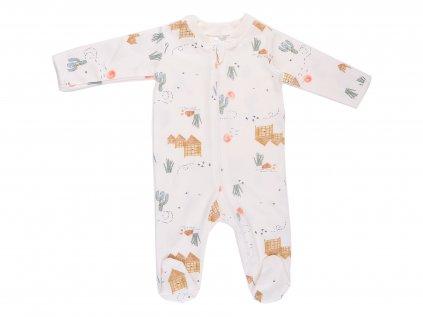 Bavlněný kojenecký overal, marlowe, na zip