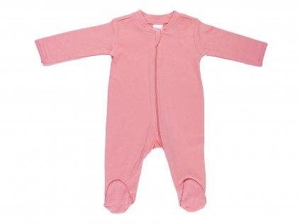 Bavlněný kojenecký overal, pink