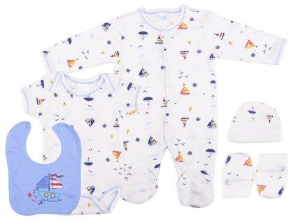 Bavlněný kojenecký set, Happy Sailor, set