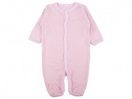 Bavlněný kojenecký overal, rosaline, růžový