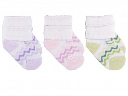 Kojenecké ponožky, proužky