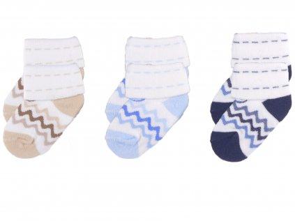 Kojenecké ponožky, proužky2