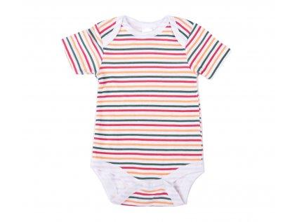 Bavlněné kojenecké body Stripes