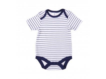 Bavlněné kojenecké body s krátkým rukávem, Sailor