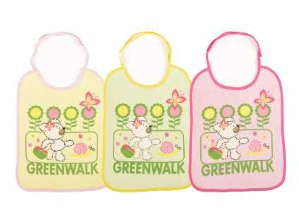 Bavlněné bryndáčky, 3ks, zavazovací, Greenwalk3