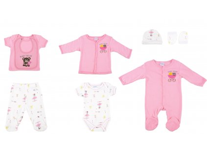 Bavlněný kojenecký set, růžový, Babbybear