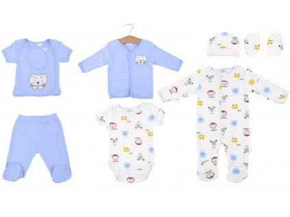 Bavlněný kojenecký set, 8ks, medvídci