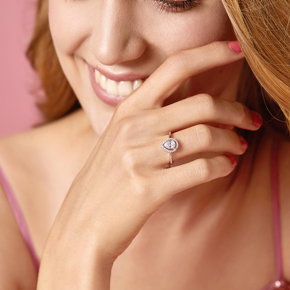 ♥ Luxusní prsten Křišťálová kapka ♥