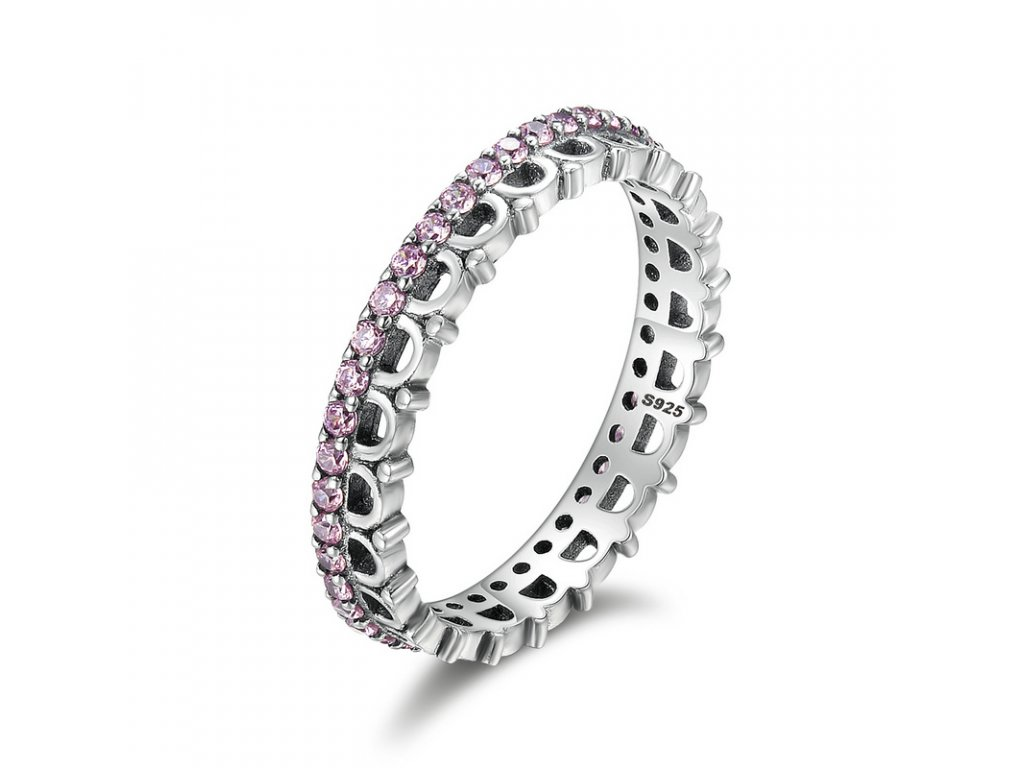 Royal Fashion prsten Korunka Pink SCR095