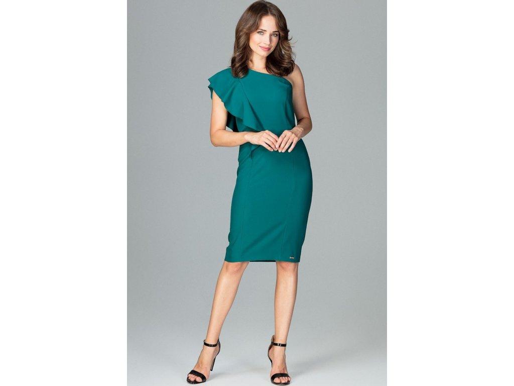 Lenitif společenské šaty s volány MM-120762 zelená