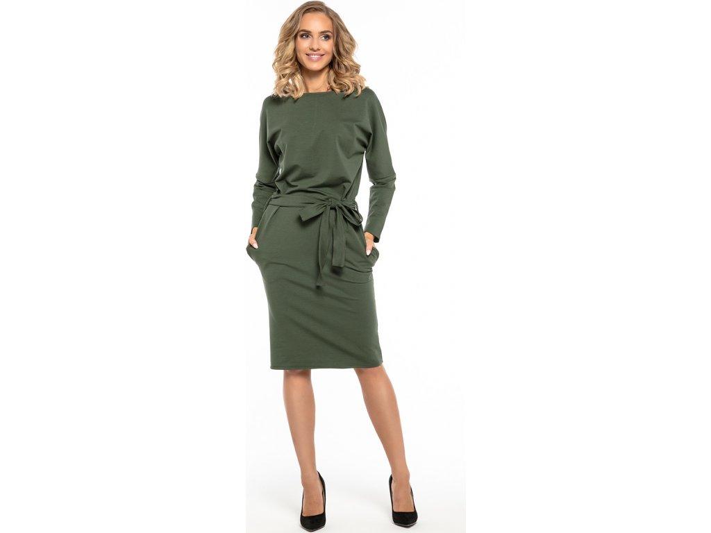 1155592120f8 Tessita denní šaty MM-121254 zelená - ROYAL FASHION