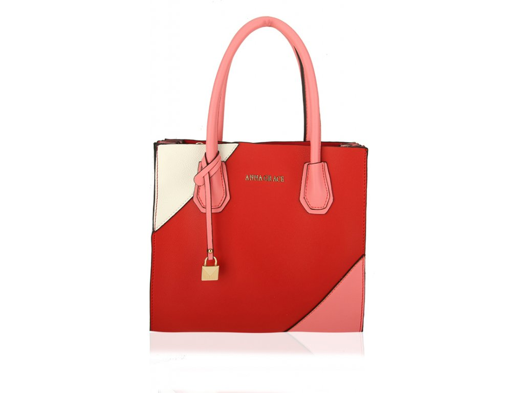 Anna Grace Luxusní kabelka AG00742_RED/PINK