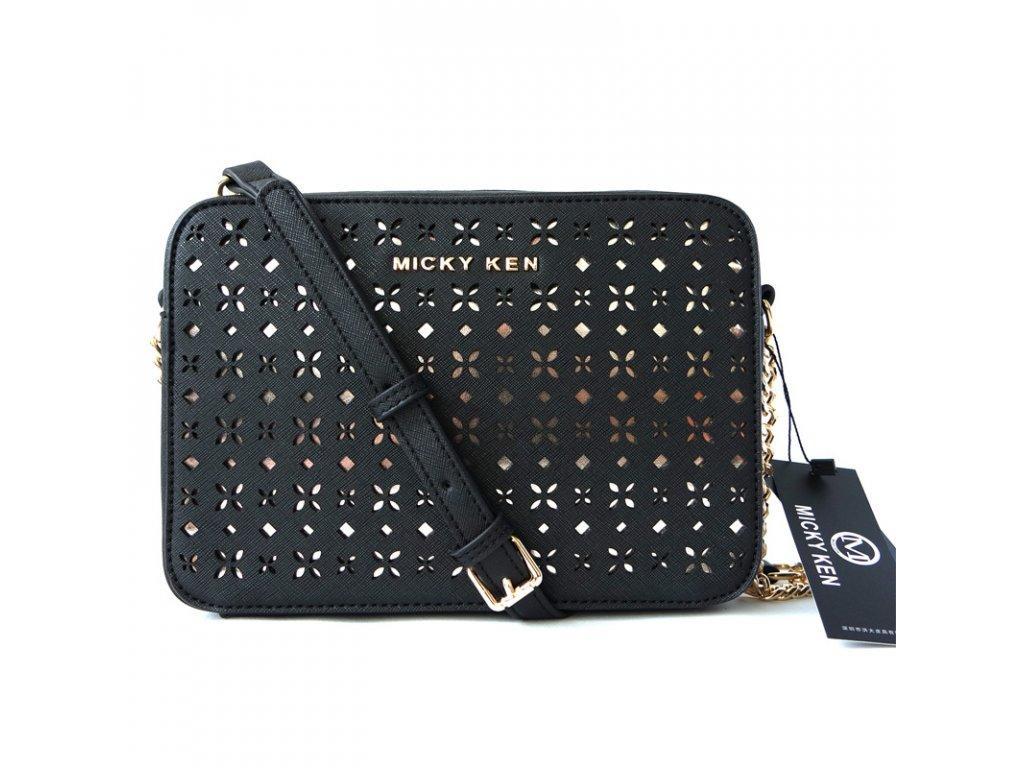 1c7b917fab Micky Ken Luxusní kabelka MK13881 BLACK - ROYAL FASHION