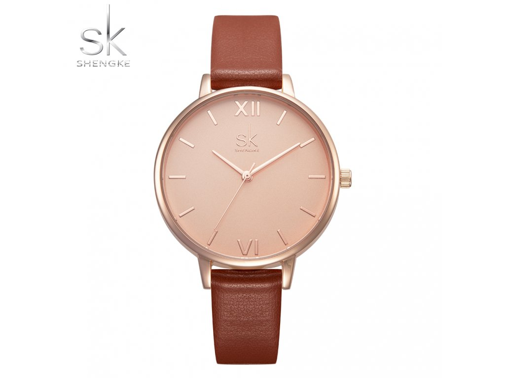 SK Shengke hodinky Marble Brown K0039_L03_BROWN