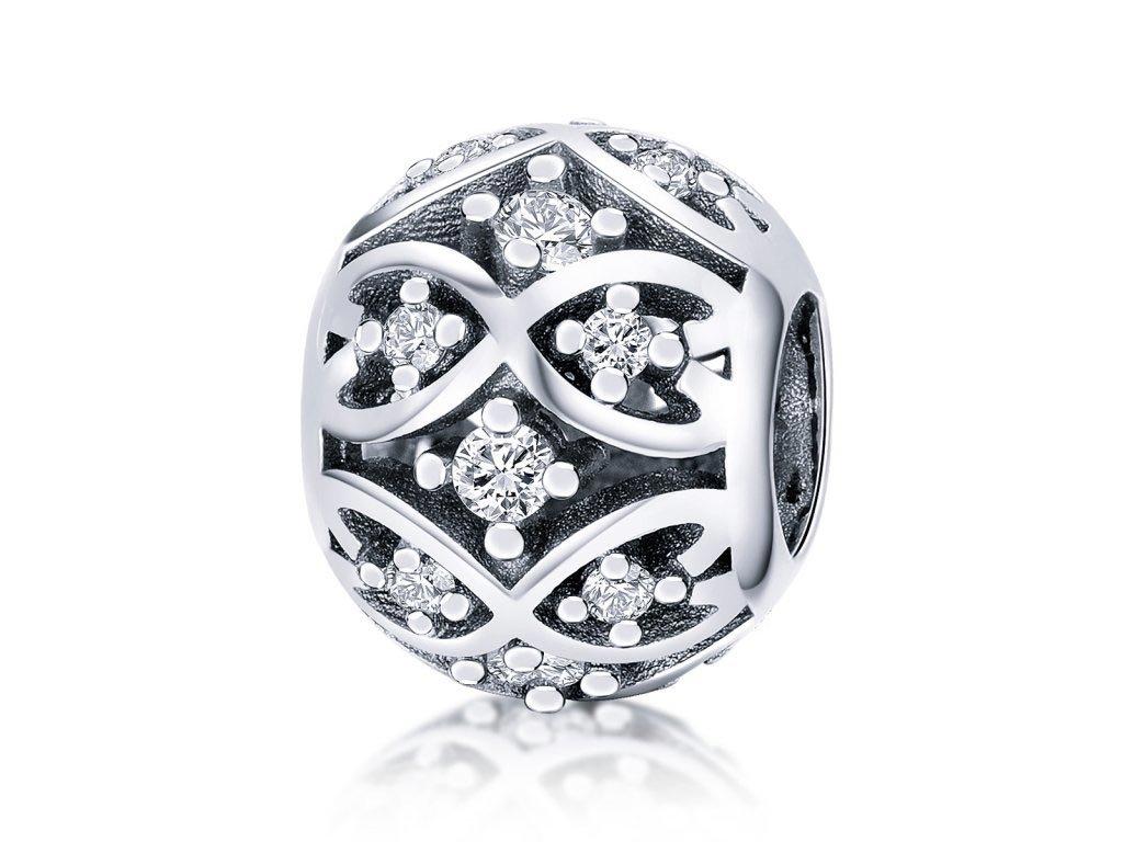 Royal Fashion stříbrný přívěsek nekonečná láska SCC732