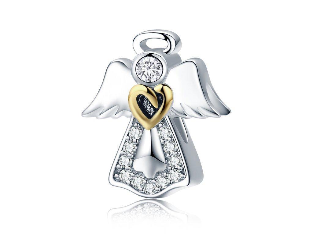 Royal Fashion stříbrný přívěsek Anděl SCC747