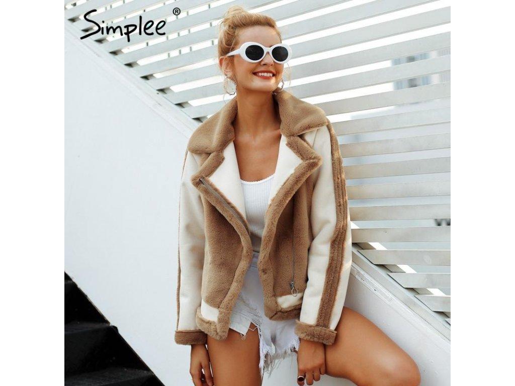 x simplee elegant faux fur coat women 2018