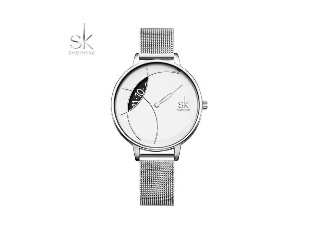 f62dbf017 SK Shengke hodinky Corona Silver K0091_SILVER - ROYAL FASHION