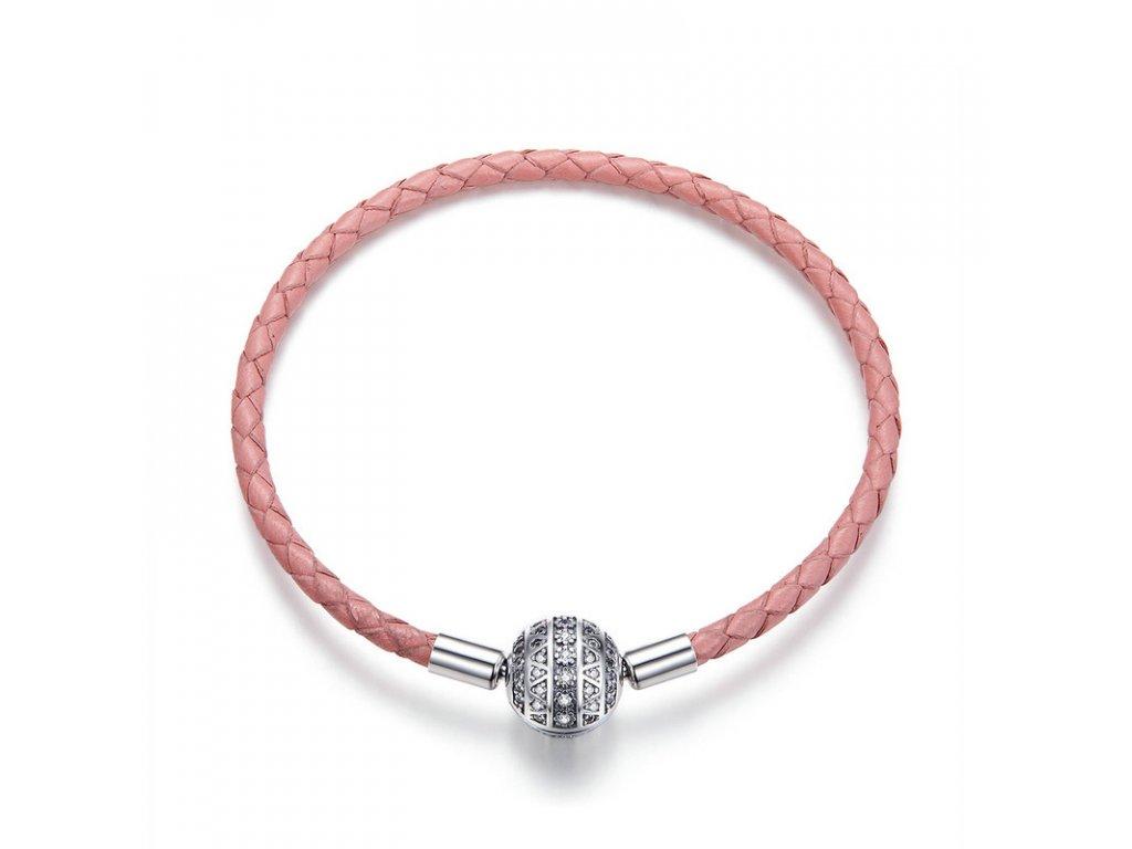 Royal Fashion náramek na přívěsky Růžová elegance SCB114