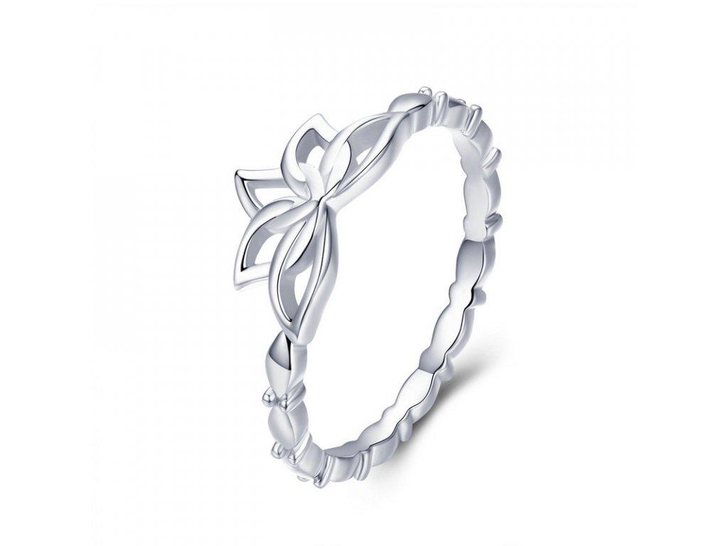 Royal Fashion prsten Lotosový květ BSR018