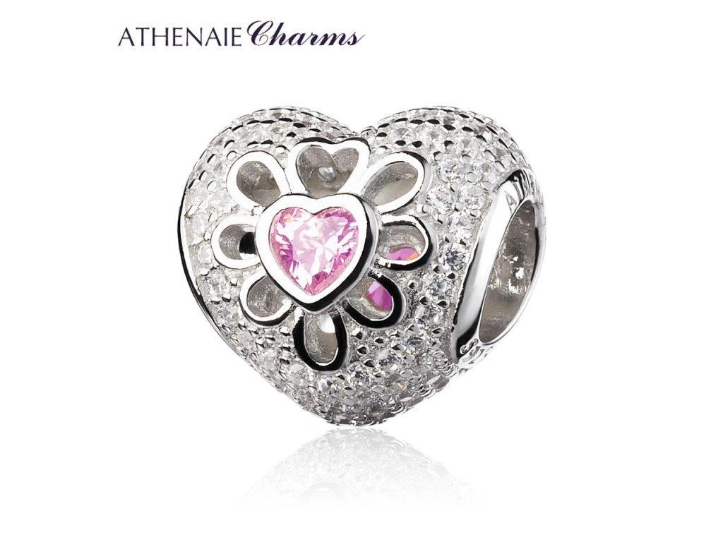 Athenaie přívěsek Rozkvetlé srdce PAV57
