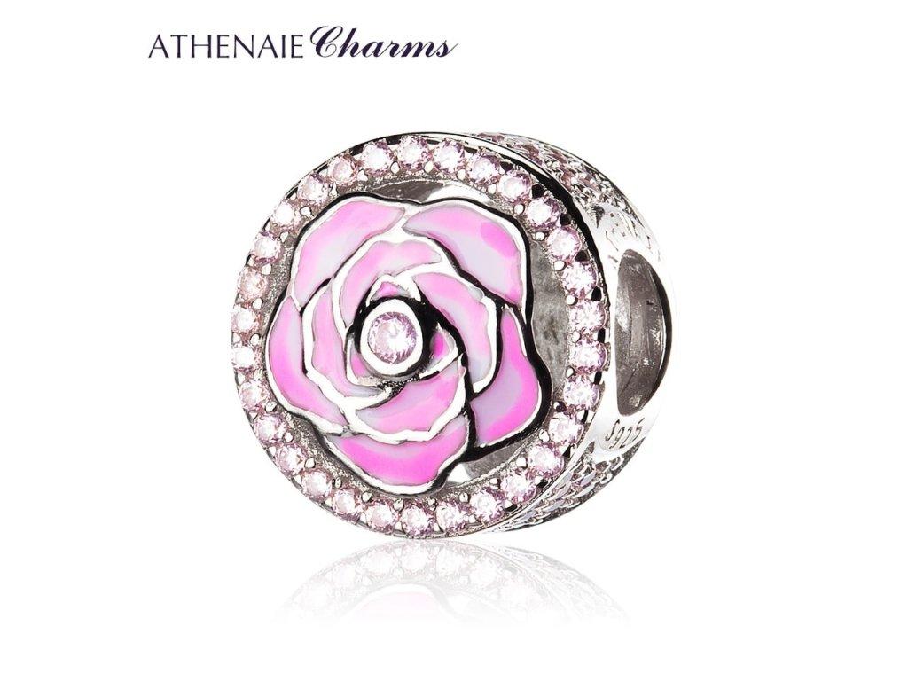 Athenaie přívěsek Růžová růže lásky EN39