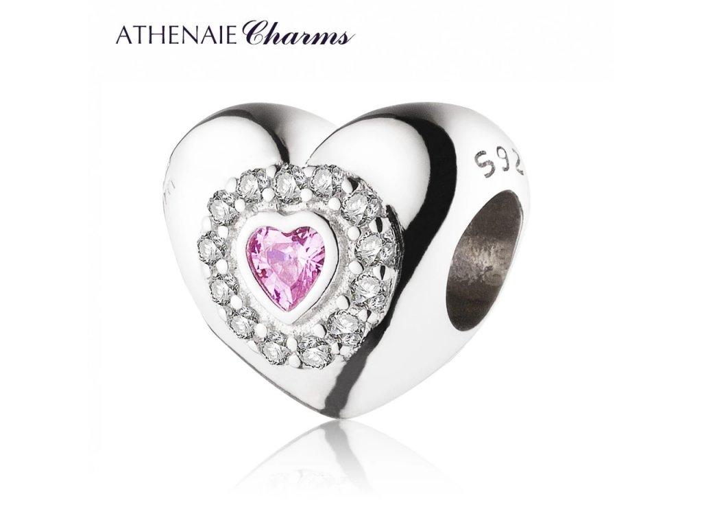 Athenaie přívěsek Srdce v moci lásky PAV19