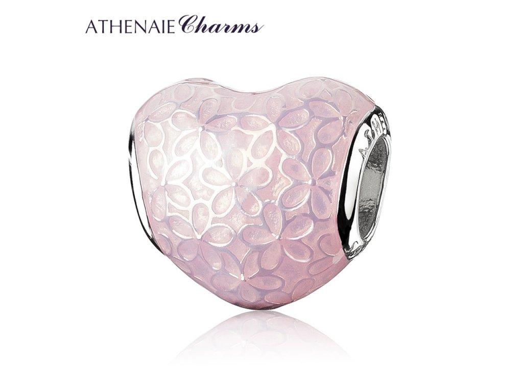 Athenaie přívěsek Srdce romantických květin EN31