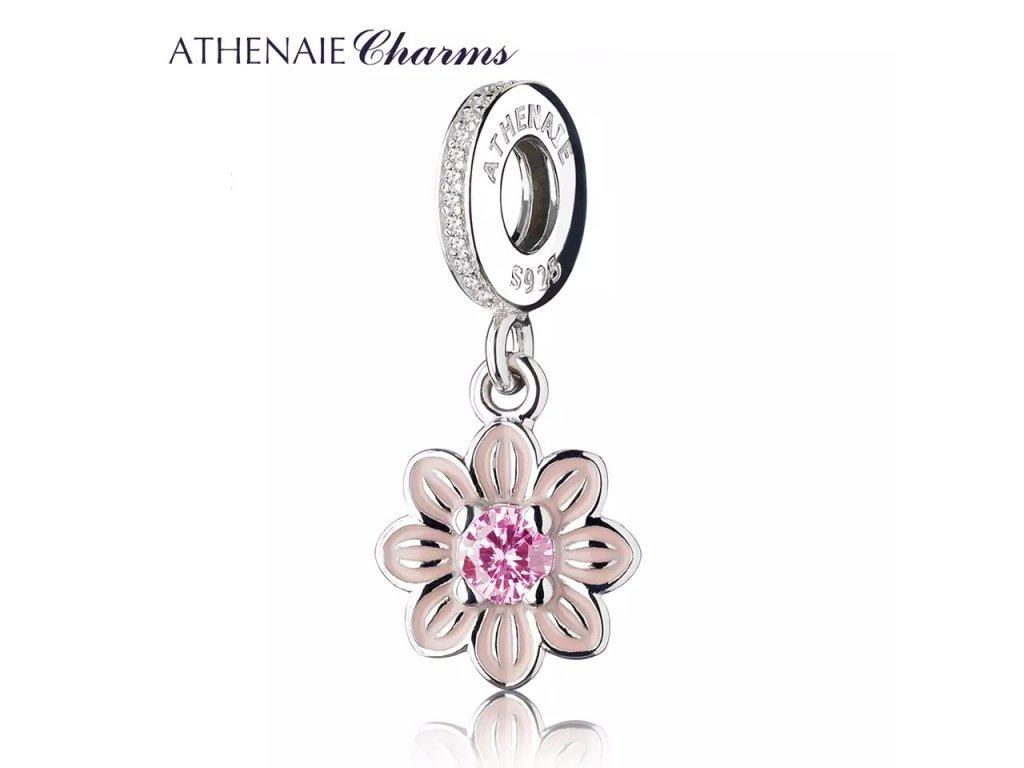 Athenaie přívěsek Romantický růžový květ EN05