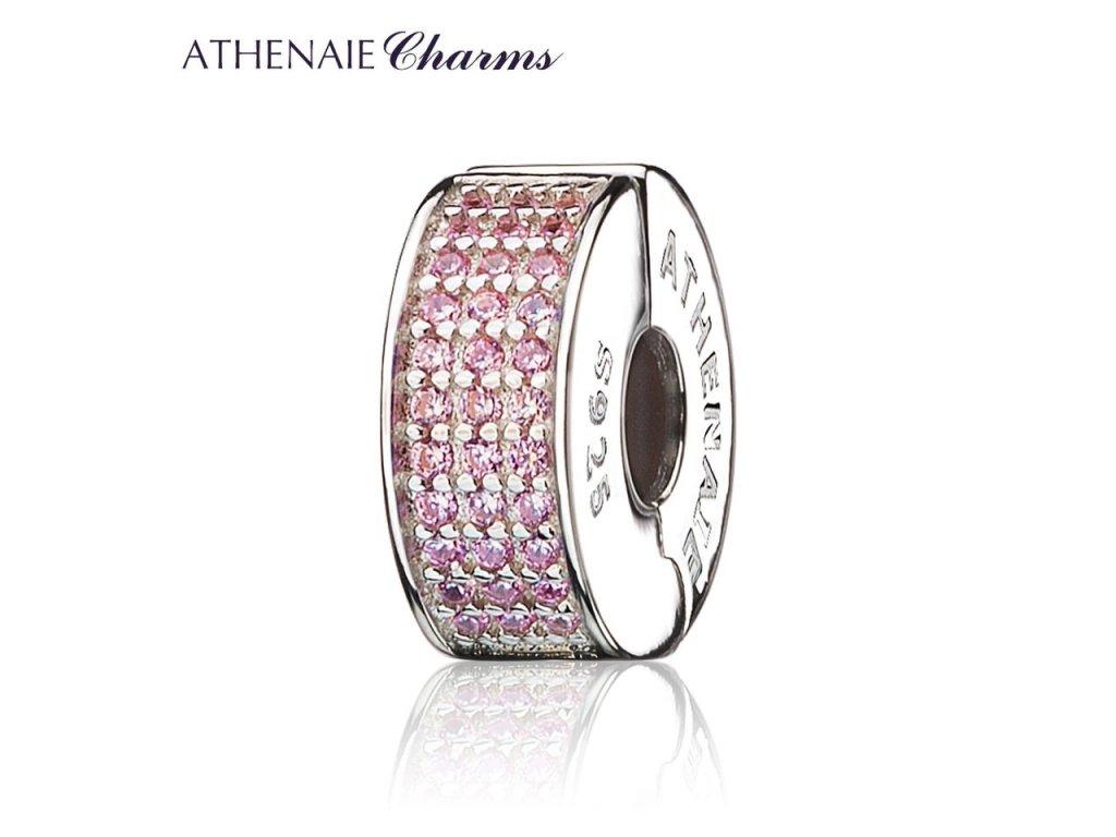 Athenaie přívěsek Klip Zářivá růžová elegance CLP03