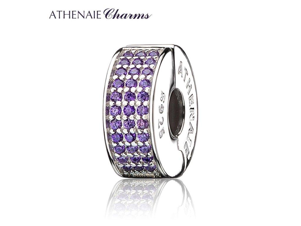 Athenaie přívěsek Klip Zářivá fialová elegance CLP02