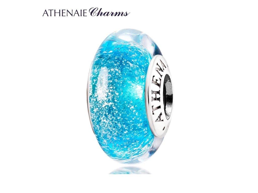 Athenaie přívěsek Modré jiskřivé sklo Murano MNG130