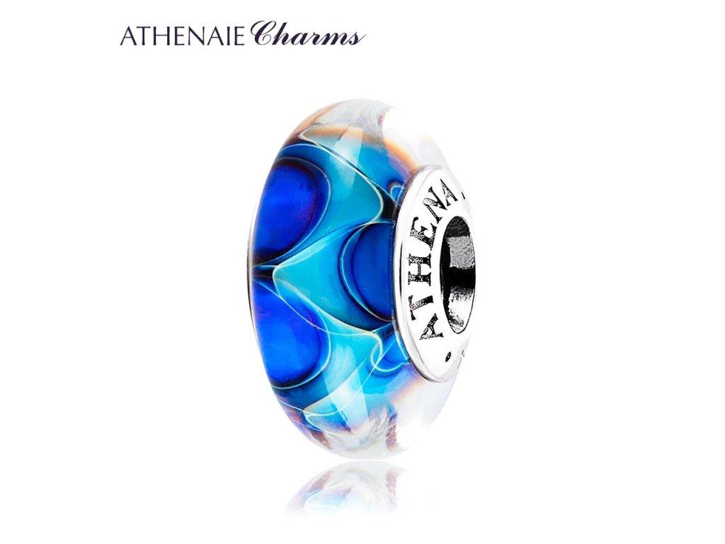 Athenaie přívěsek Tajemný oceán sklo Murano MNG151