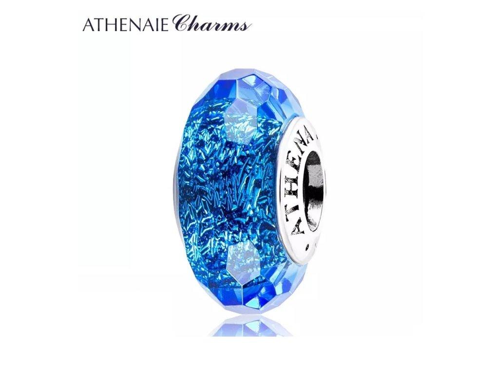 Athenaie přívěsek Modré fascinující broušené sklo Murano MNG153