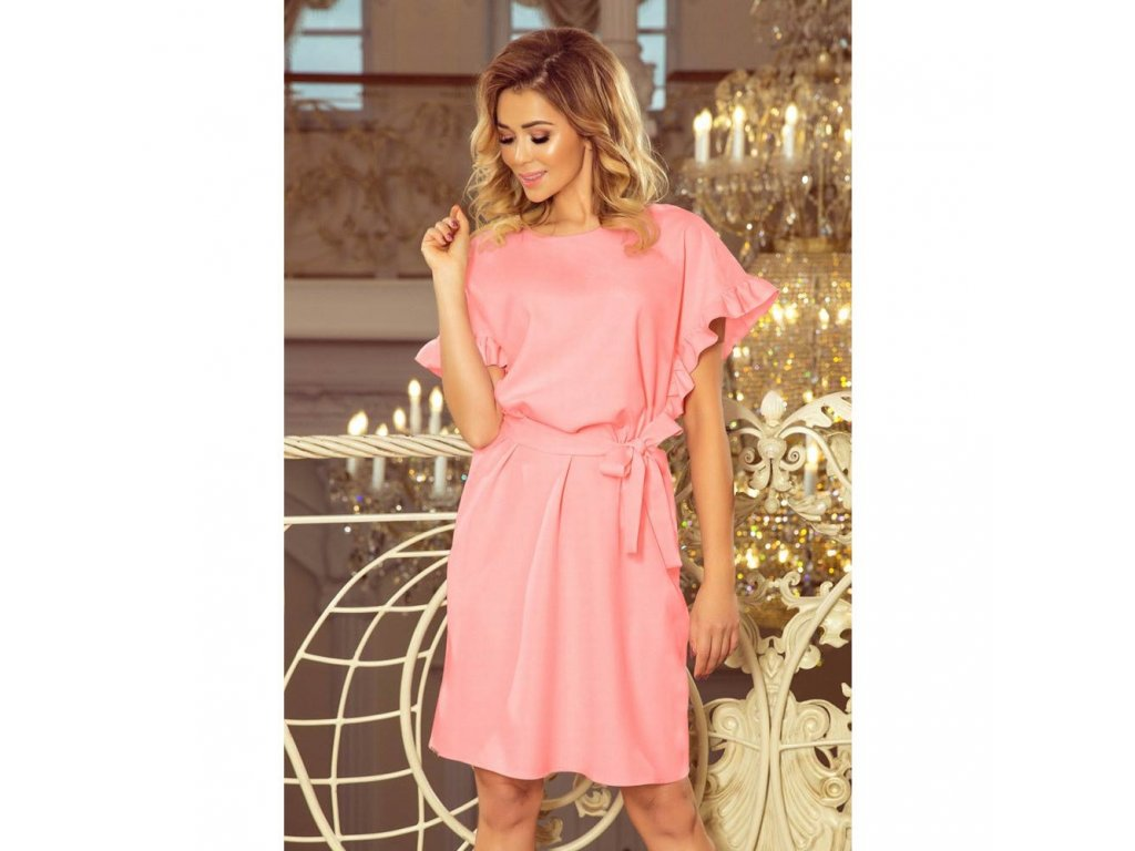 d790d7e866e2 Numoco dámské úpletové šaty 229 1 růžové - ROYAL FASHION