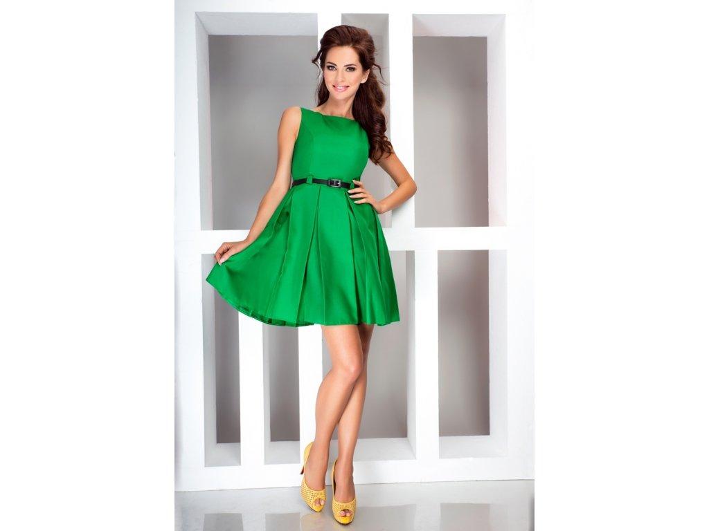 b630bb9cf573 Numoco společenské šaty MM-39966 zelená - ROYAL FASHION