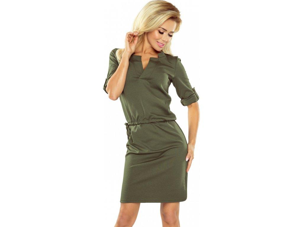 5da9885e2864 Numoco denní šaty MM-104845 zelená - ROYAL FASHION