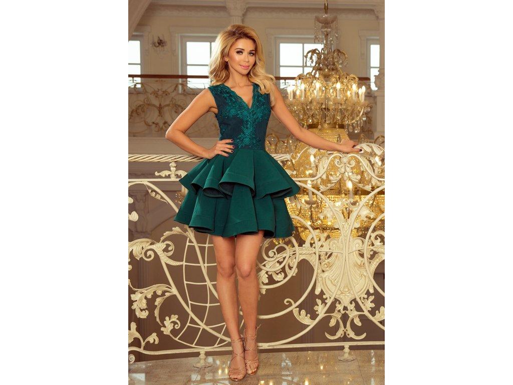 164dcac08258 Numoco společenské šaty MM-116210 zelená - ROYAL FASHION