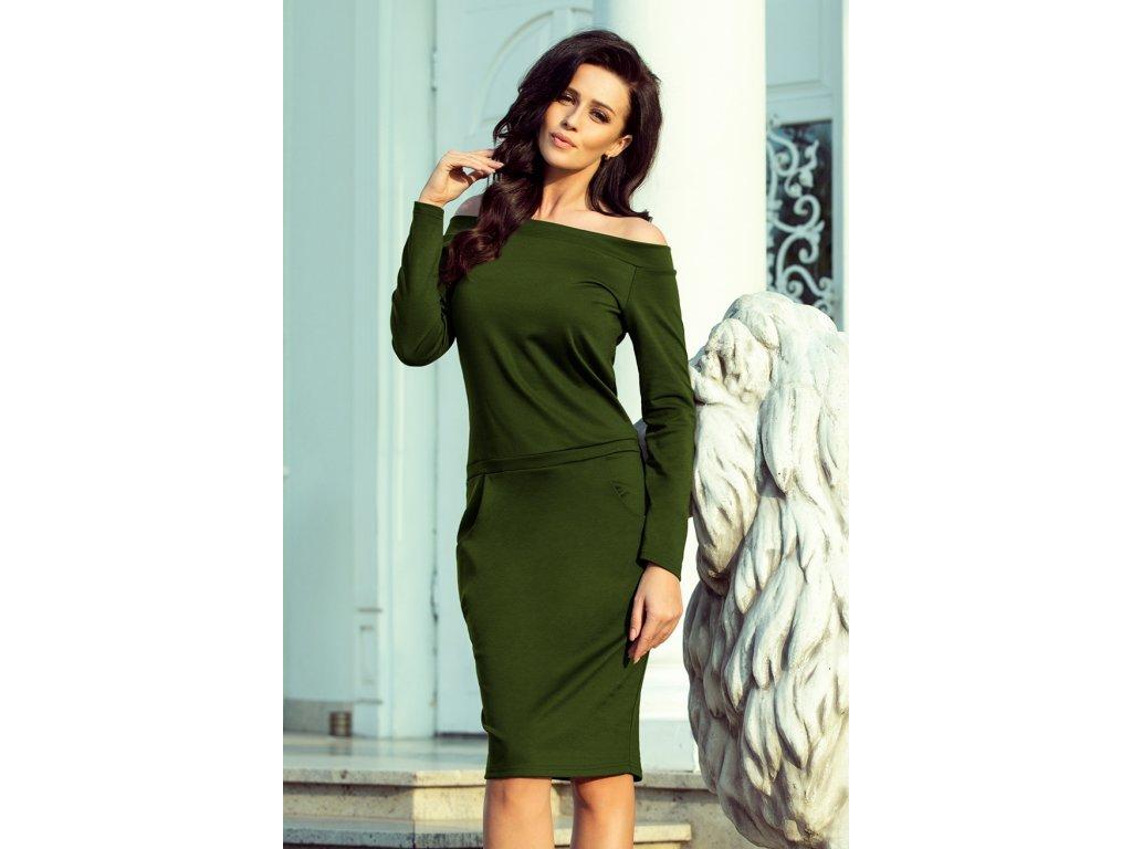 b1389e8751da Numoco denní šaty MM-125688 zelená - ROYAL FASHION