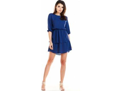 awama lehké společenské šaty MM-129966 modrá