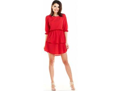 awama lehké společenské šaty MM-129967 červená