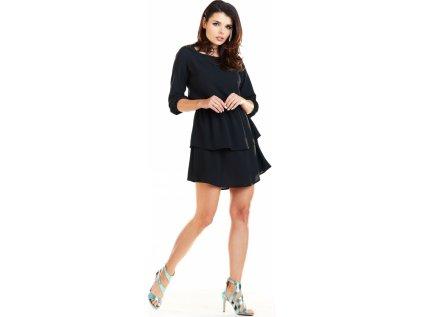 awama lehké společenské šaty MM-129968 černá