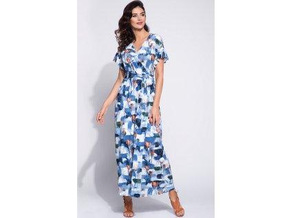 Bien Fashion společenské maxi šaty MM-118779 modrá