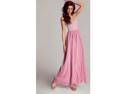 IVON dlouhé šaty MM-121748 růžová