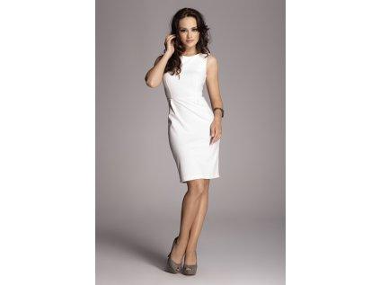 Figl společenské pouzdrové šaty MM-10130 béžová